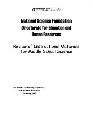 Review of Instructional Materials for Middle School Science