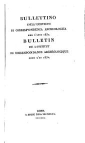 Bullettino dell'Instituto di Corrispondenza Archeologica: 1831