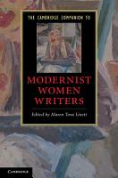 The Cambridge Companion to Modernist Women Writers PDF