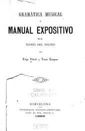 Gramática musical: ó, Manual expositivo de la teoría del solfeo
