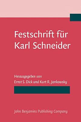 Festschrift f  r Karl Schneider PDF