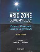 Arid Zone Geomorphology