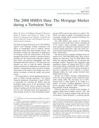2008 HMDA Data