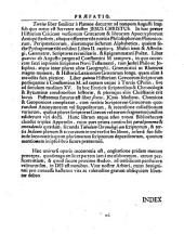 Jo. Alberti Fabricii ... Bibliotheca Graeca, sive Notitia scriptorum veterum Graecorum: Volume 1
