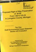 M 59 Proposed Right of Way Preservation from I 69 to US 23  Livingston County PDF