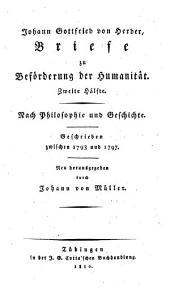 Johann Gottfried von Herder's Sammtliche Werke: zur Philosophie und Geschichte, Band 11