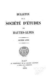 Bulletin de la Société d'études des Hautes-Alpes: Volume7