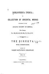 The Nirukta: with commentaries, Volume 4