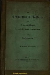 Die Temperatur-Verhältnisse von Osterreich-Ungarn dargestellt durch Isothermen