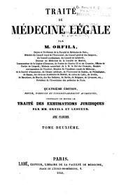 Traité de médecine légale / par m. Orfila: Volume2