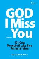 God I Miss You   Edisi Revisi PDF
