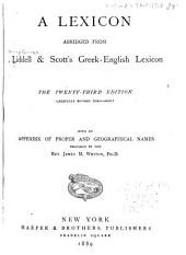 A Lexicon Abridged from Liddell & Scott's Greek-English Lexicon