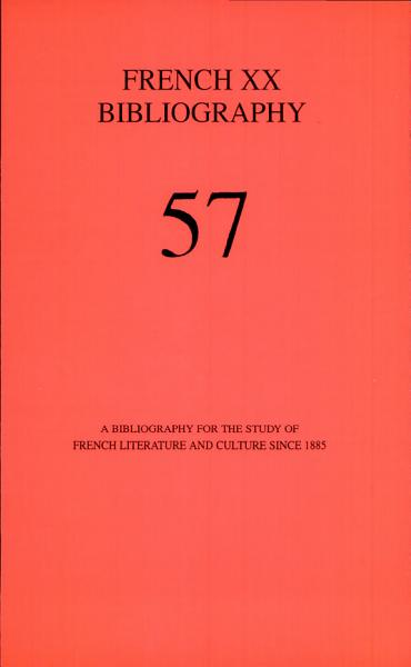 Download French XX Bibliography Book