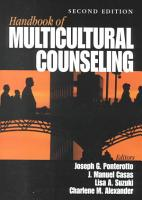 Handbook of Multicultural Counseling PDF
