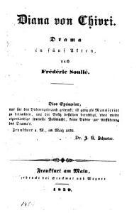 Diana von Chiori  Drama in 5 Akten PDF