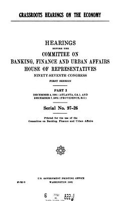 Grassroots Hearings on the Economy PDF