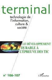 Le développement durable à l'épreuve des TIC