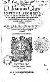 In S. Geneseos librum narrationes