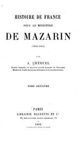 Histoire de France pendant la minorité de Louis XIV: Volume2