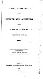Legislative Documents of the Senate and Assembly of the State of New York: Volume 3, Issues 201-290