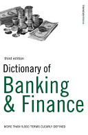 Dictionary of Banking and Finance PDF