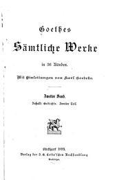 Goethes sämtliche werke: Gedichte