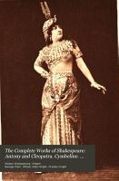 Antony and Cleopatra  Cymbeline  Pericles  Poems PDF