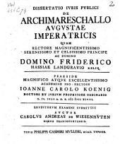 De archimareschallo augustae imperatricis