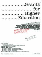 Grants For Higher Education 2005 2006 PDF