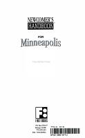 Newcomer s Handbook for Minneapolis Saint Paul PDF