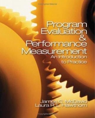 Program Evaluation & Performance Measurement