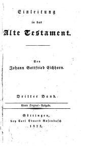 Einleitung in das Alte Testament: Band 3