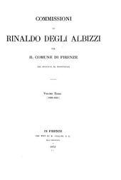 Commissioni di Rinaldo degli Albizzi per il comune di Firenze dal MCCCXCIX al MCCCCXXXIII.: 1426-1433