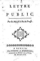 Lettre Au Public