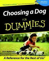Choosing a Dog For Dummies PDF