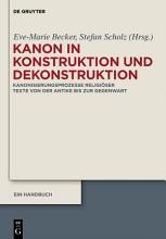 Kanon in Konstruktion und Dekonstruktion PDF