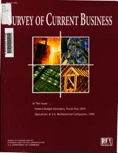 Survey of Current Business: Volume 82, Issue 3
