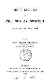 Short lectures on the Sunday Gospels
