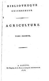 Bibliothèque universelle des sciences, belles-lettres, et arts: Volume1