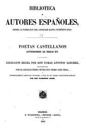 Poetas castellanos anteriores al siglo XV.