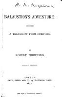 Balaustion s Adventure PDF