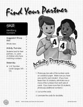 Identifying Numbers--Find Your Partner Activity