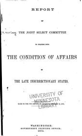 Report of and Testimony: Volume 1
