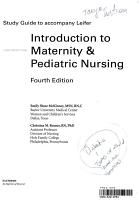Study Guide to Accompany Introduction to Maternity and Pediatric Nursing PDF