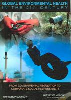 Global Environmental Health in the 21st Century PDF
