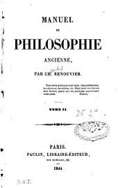 Manuel de philosophie ancienne: Volume2