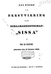 """Een woord op de feestviering van het schaakgenootschap: """"Sissa"""" te Wijk bij Duurstede, gehouden den 17 october 1853"""