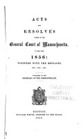 Acts and Resolves Passed by the General Court of Massachusetts in the Year     PDF