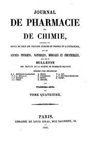 Journal de pharmacie et de chimie: Volume4;Volume1843