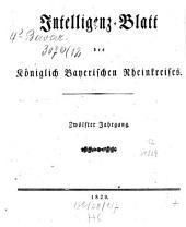 Intelligenzblatt des Rheinkreises: Band 12